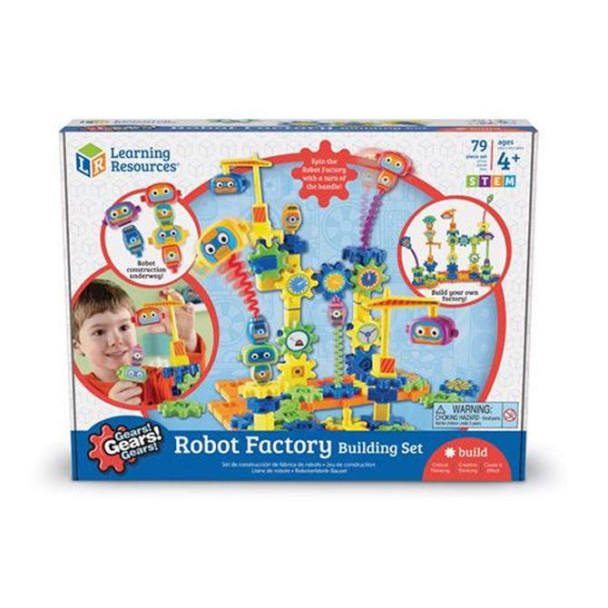 Learning Resources Gears Robot Factory Building Set