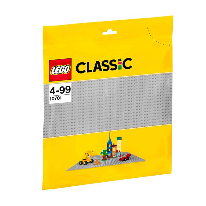 Lego Bricks and More Grey Baseplate 10701