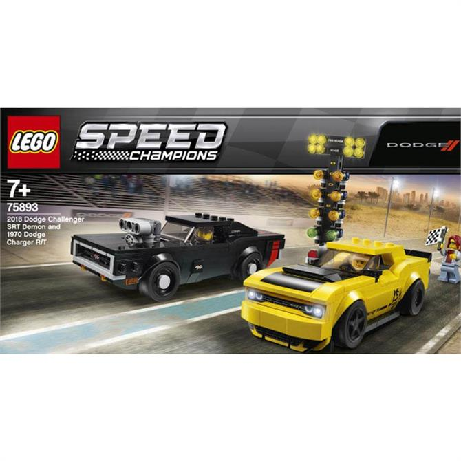 Lego  2018 Dodge Challenger SRT Demon and 1970 Dodge Charger R/T 75893