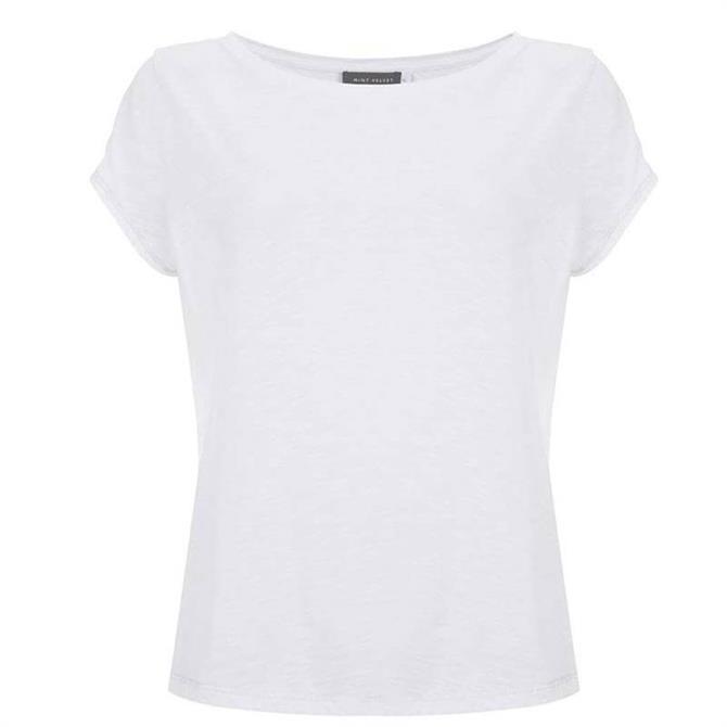 Mint Velvet Ivory Cotton Star T-Shirt