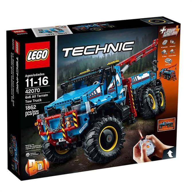 Lego Technic Remote Controlled 6 x 6 All Terrain Tow Truck 42070