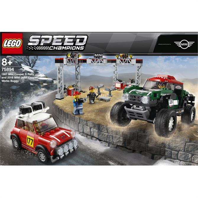 Lego 1967 Mini Cooper S Rally and 2018 MINI John Cooper Works Buggy 75894