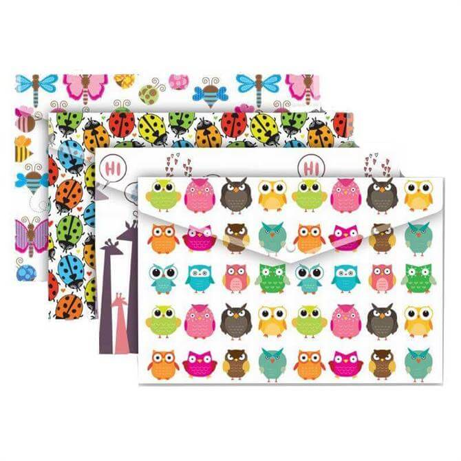 Tiger Stationery A4+ Nature Stud Wallet - Assorted