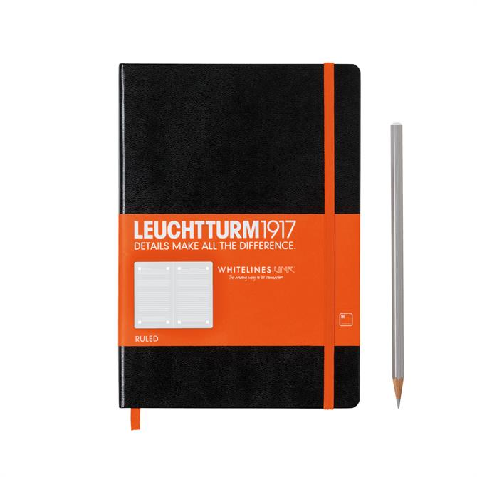 Leuchtturm Medium Lined With Elastic Band And Page Marker