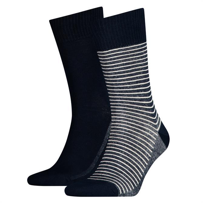 Levi's Regular Cut Vintage Stripe Socks 2 Pack