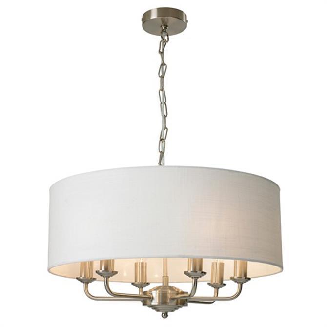 Lighting & Interiors Group Grantham Satin Nickel Ceiling Light