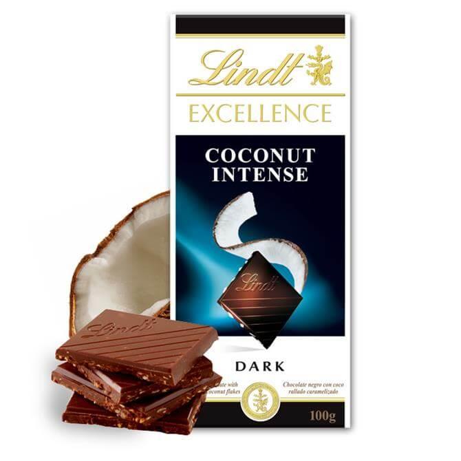 Lindt Excellence Coconut Intense Dark Chocolate Bar 100g