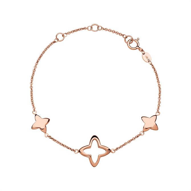 Links of London Splendour 18kt Rose Gold Vermeil Cut Out Station Bracelet