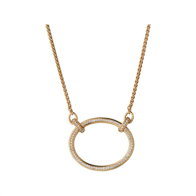 Links of London Ovals 18kt Yellow Gold Vermeil & White Topaz Necklace