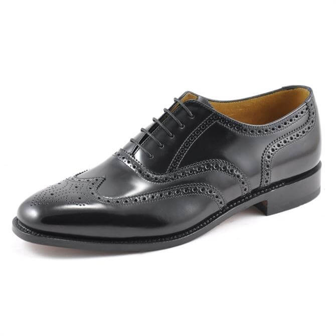 Loake 202 Black Leather Brogue Shoe