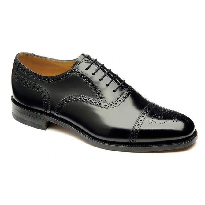 Loake City Black Brogue Shoe