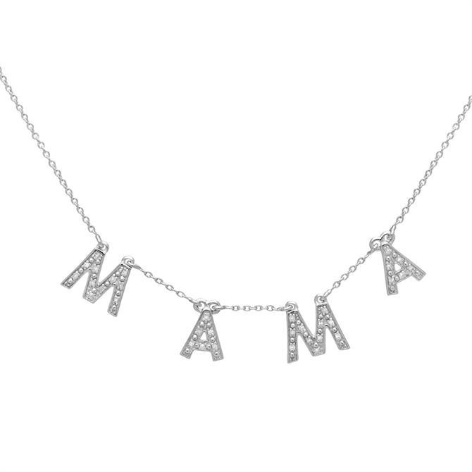 Lola Rose Silver Mama Diamonds Bunting Necklace