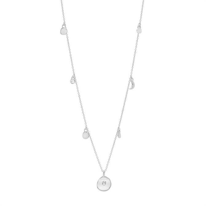 Lola Rose Mini Coin Silver Charm Necklace
