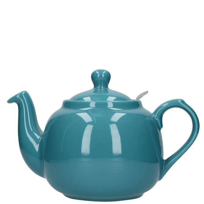 London Pottery Farmhouse 6 Cup Aqua Teapot