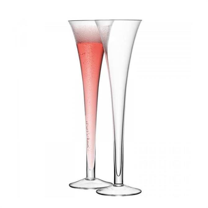 LSA Bar Set of 2 Hollow Stem Champagne Flute