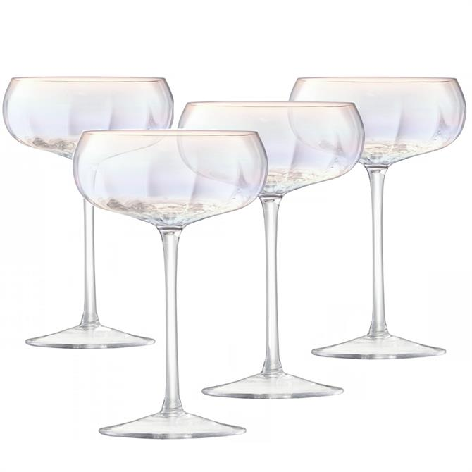 LSA Pearl Champagne Saucers: Set Of 4