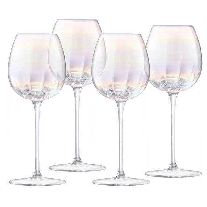 LSA Pearl White Wine Glasses: Set Of 4