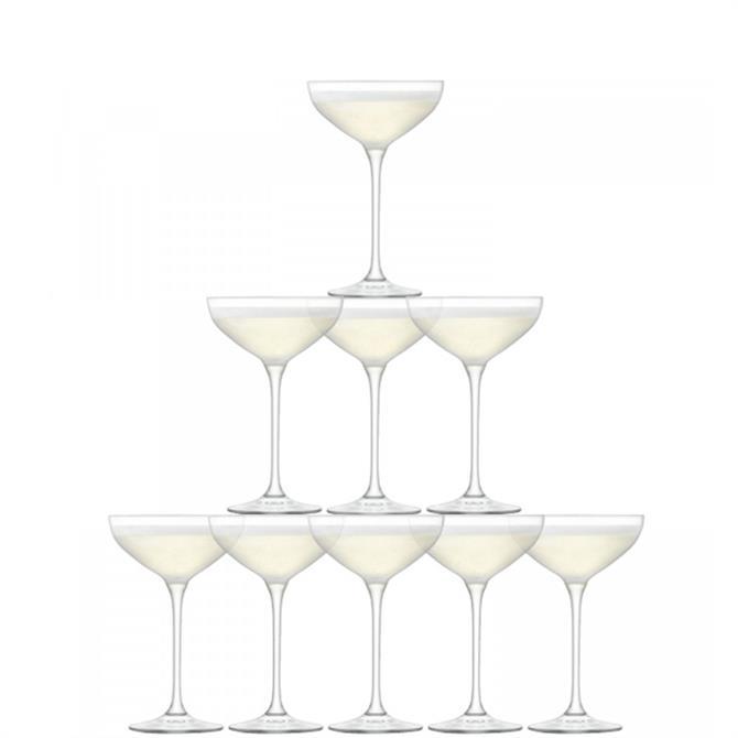 LSA International Set of 10 Tower Champagne Set