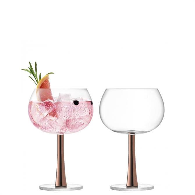 LSA International Copper Set of 2 Gin Balloon Glasses