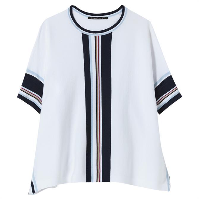 Luisa Cerano Contrast Striped Sweater