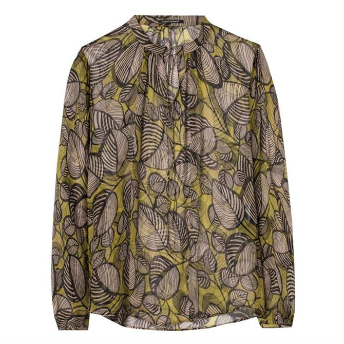 Luisa Cerano Leafprint Silk Blouse