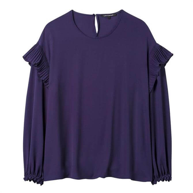 Luisa Cerano Pleated Frill Sleeve Blouse