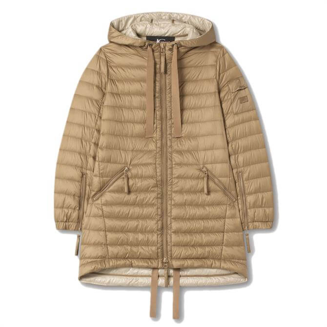 Luisa Cerano Quilted Featherless Parka Coat
