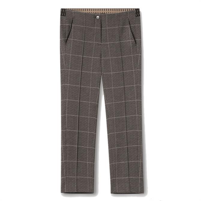 Luisa Cerano Plaid Slim Tailored Trousers