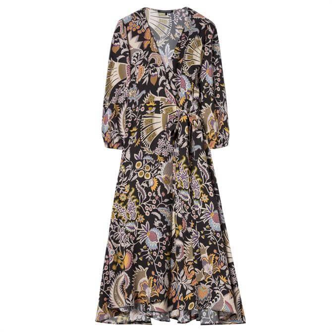 Luisa Cerano Ethnic Print Midi Dress