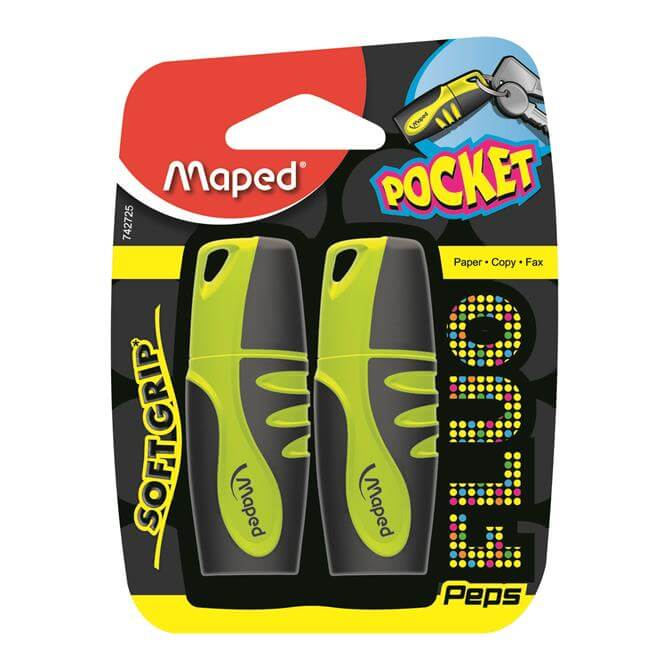 Maped Fluo Peps Twin Pack Pocket Highlighter
