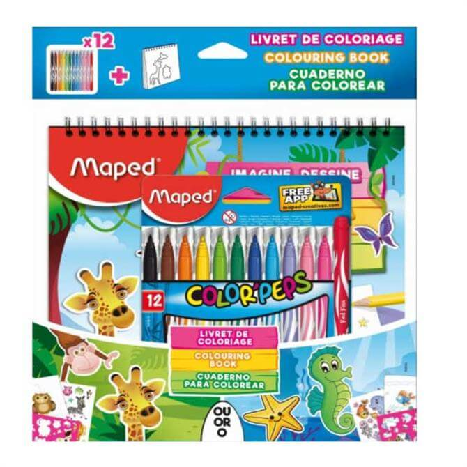 Maped Colour Peps Jungle Sticker and Colouring Set