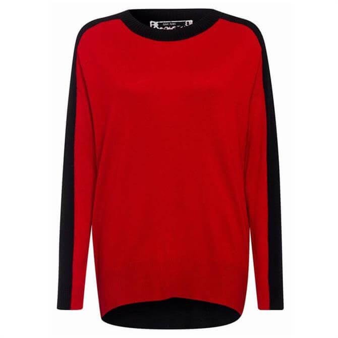Marc Aurel Red & Black Block Sweater