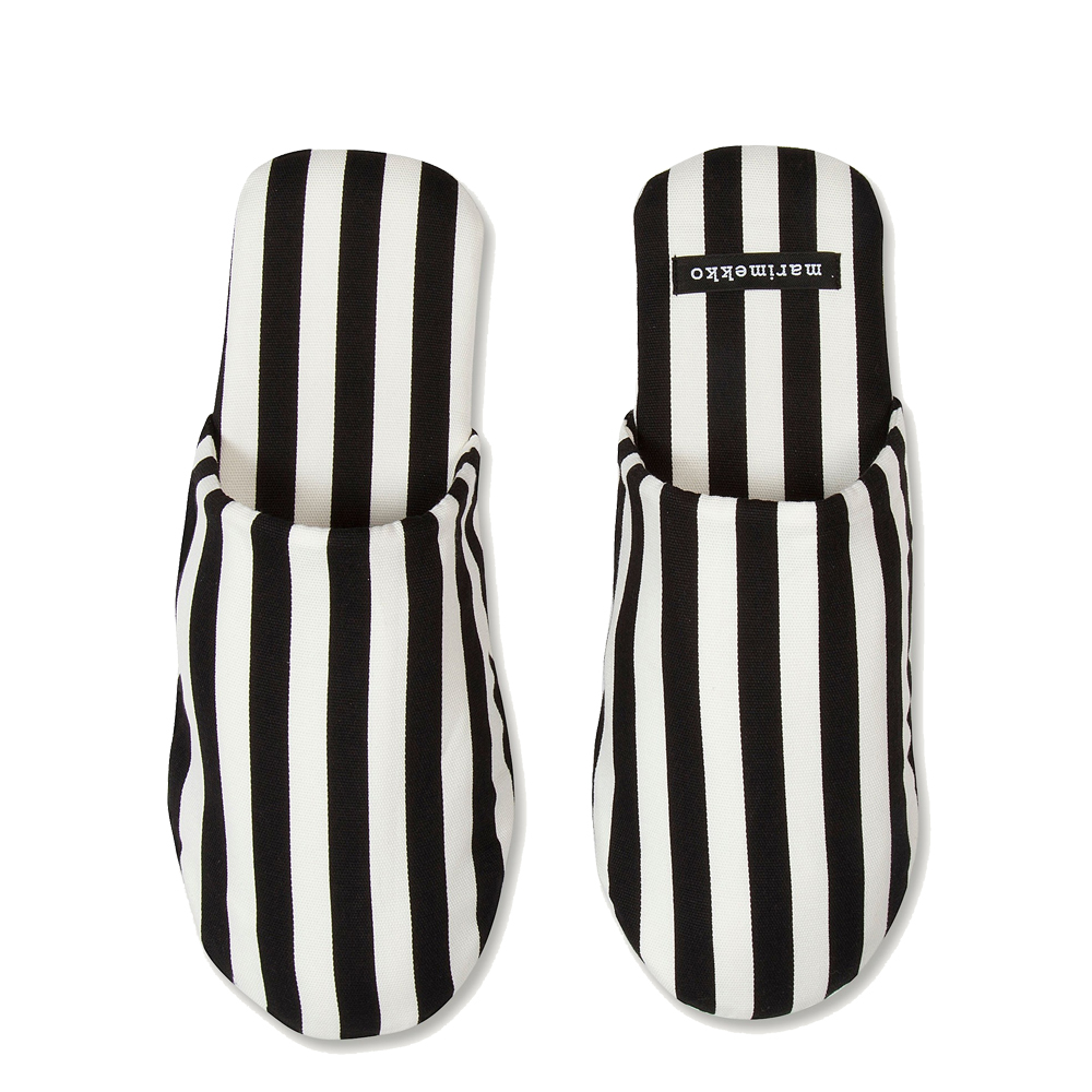 An image of Marimekko Tasaraita Slippers - SMALL