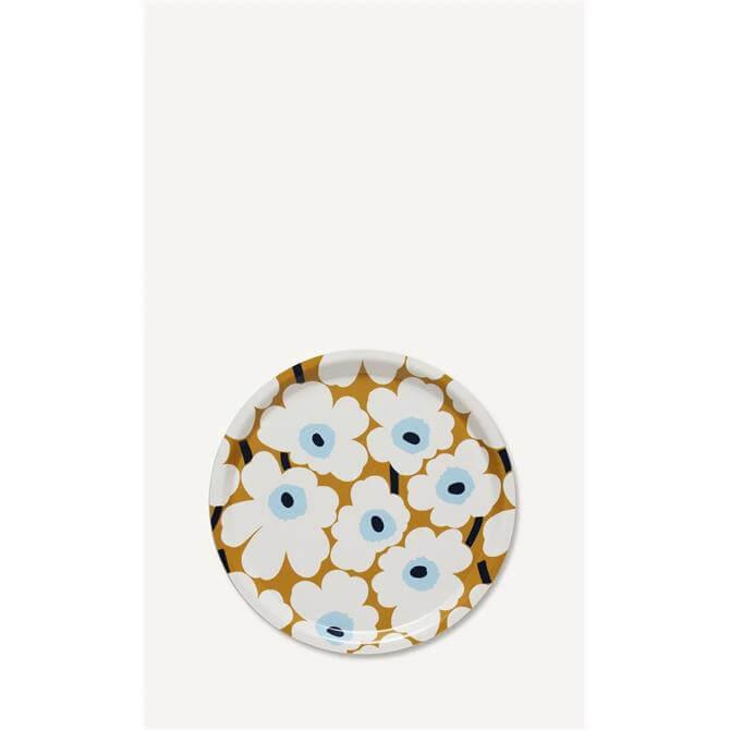 Marimekko Mini Unikko Beige/Off White/Blue Tray