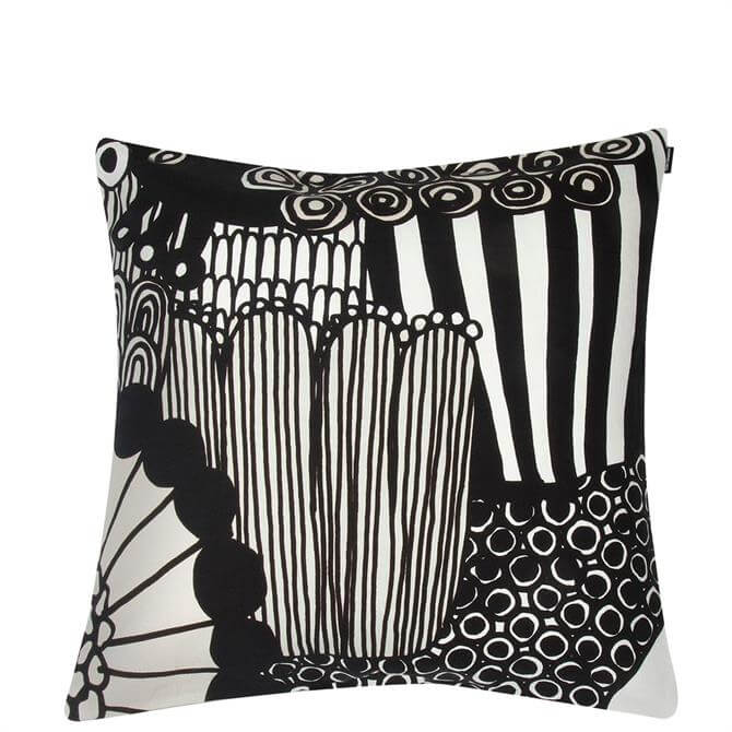 Marimekko Siirtolapuutarha Black & White Cushion Cover