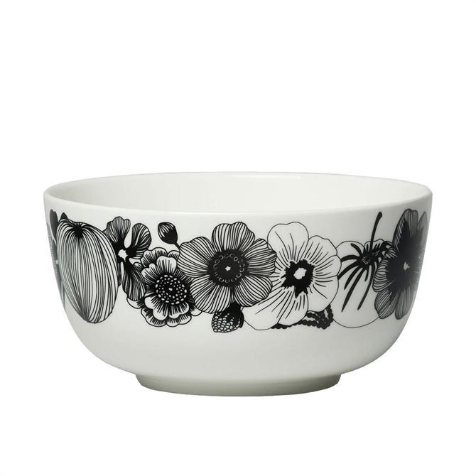 Marimekko Oiva/Siirtolapuutarha Bowl - White/Black