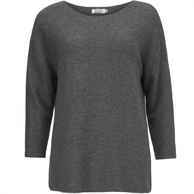 Masai Frilli Crew Neck Ribbed Sweater
