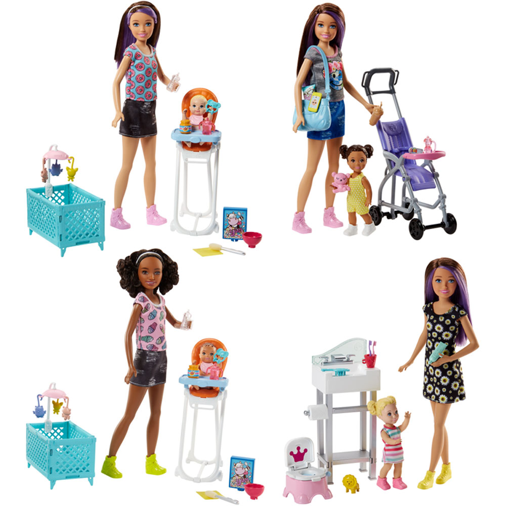 An image of Mattel Barbie Babysitter Playset Assorted