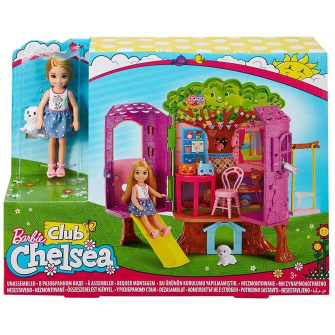 Mattel Barbie Chelsea Doll And Treehouse
