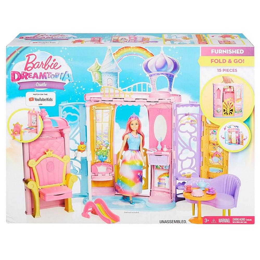 An image of Mattel Barbie Dreamtopia Portable Castle Dollhouse