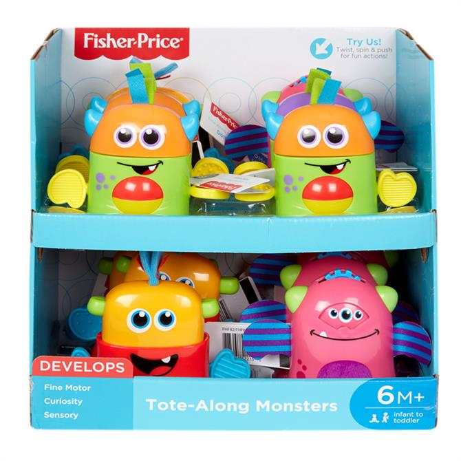 Fisher Price Tote Along Mini Monster Assorted