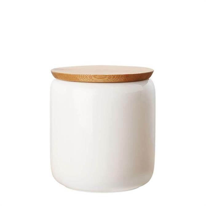 Maxwell & Williams White Basic Canister with Bamboo Lid 900ml