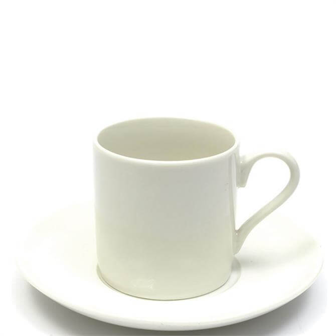 Maxwell & Williams White Basics Straight Espresso Cup & Saucer