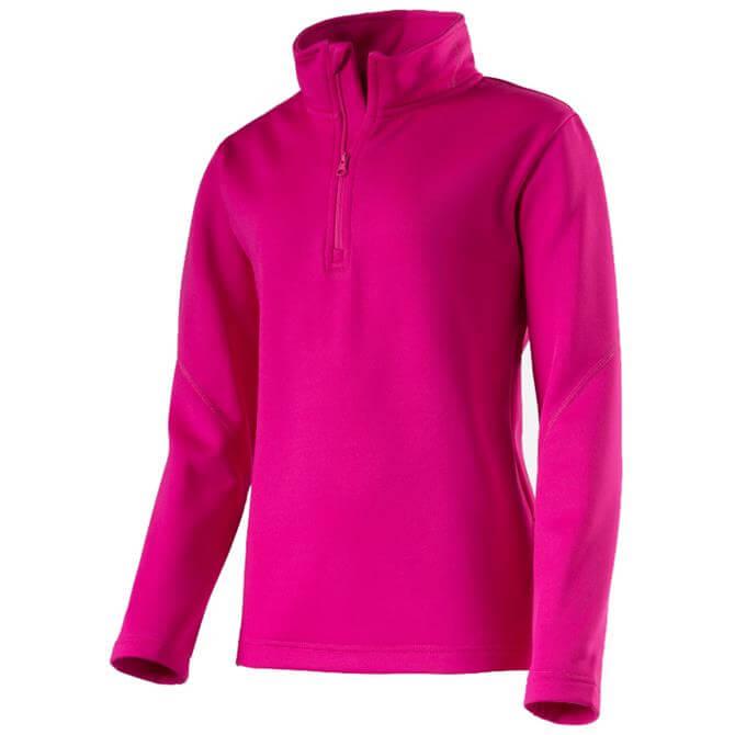 McKINLEY Junior Tannis 1/2 Zip Baselayer- Pink