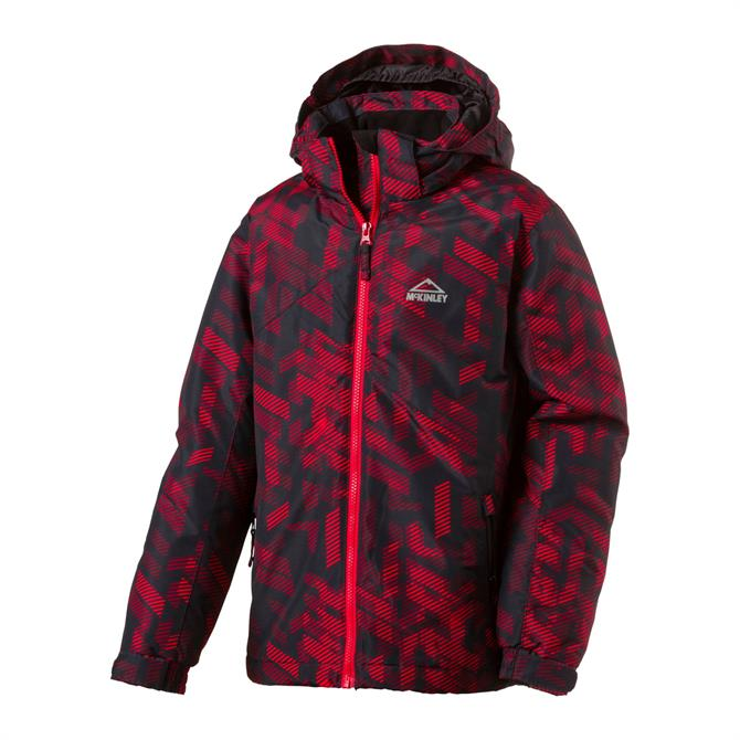 McKINLEY Boy's Cody Ski Jacket- Black Red