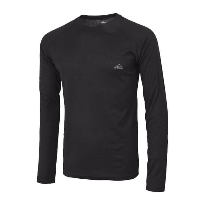 McKINLEY Men's Waldo Long Sleeve Baselayer- Black