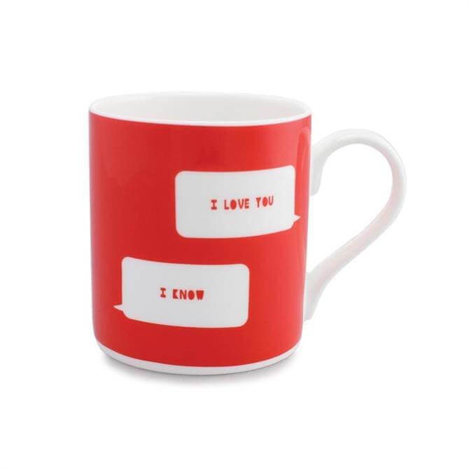 Mclaggan Valentine's Mug: 'I Love You' 'I know'