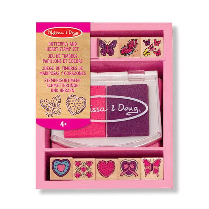 Melissa and Doug Butterfly and Hearts Stamp Set