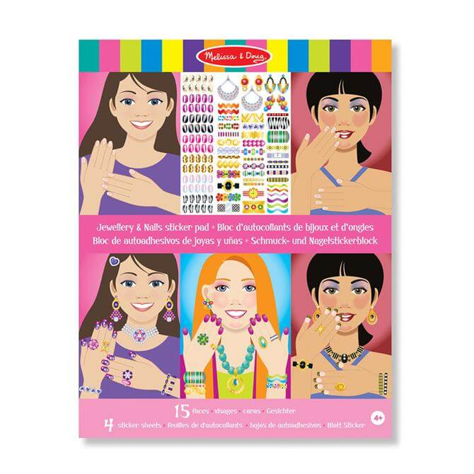 Melissa and Doug Jewellery and Nails Sticker Pad
