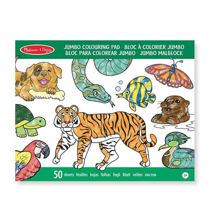 Melissa and Doug Jumbo Animals/Vehicles Colouring Pad